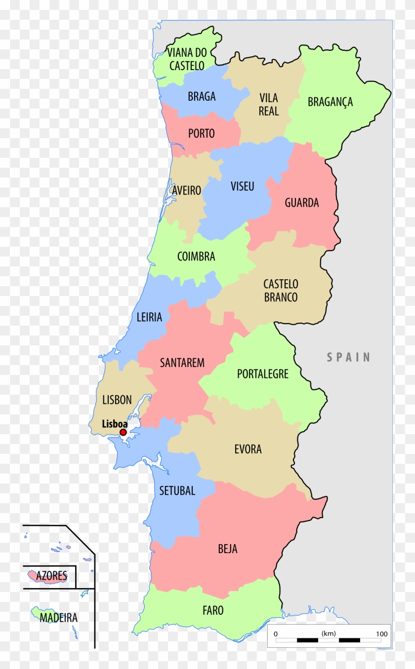 Political Map Of Portugal - Portugal Country Map Clipart #2240407