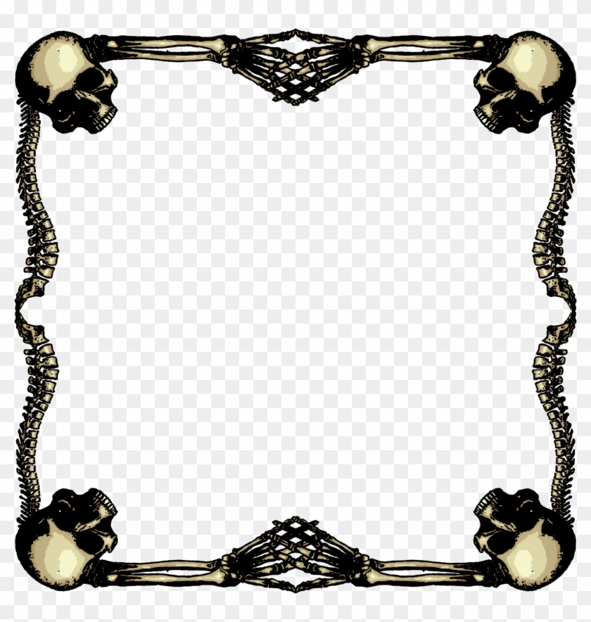 1600 X 1600 25 - Skull Gothic Frames Png Clipart #2245105
