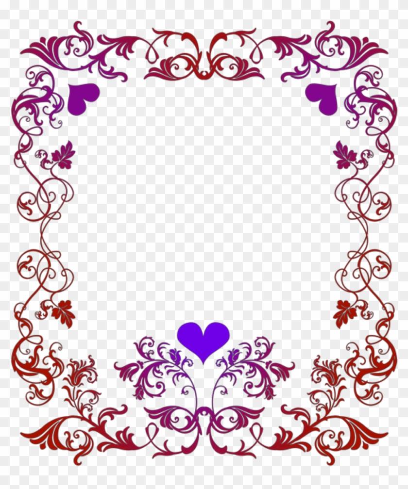 Border Sticker - Valentines Day Border Clip Art - Png Download #2246893