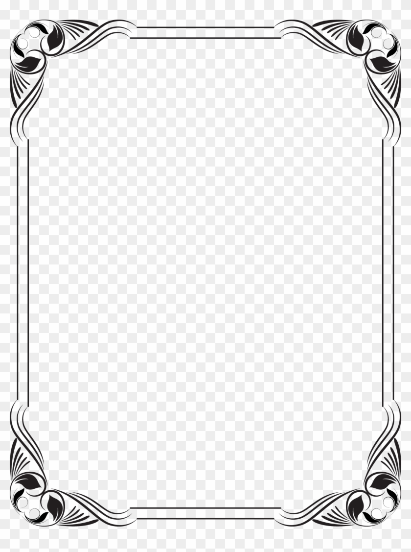 Stencil Simple Borders Cute For Paper Design Black And White Png Clipart 2246948 Pikpng