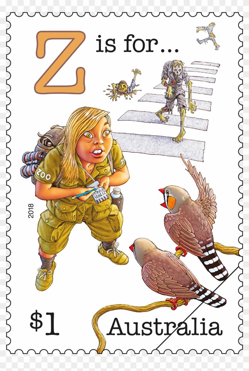 Fair Dinkum Aussie Alphabet Part 4 Z Stamp - 2018 Postage Stamps Australia Clipart #2253263