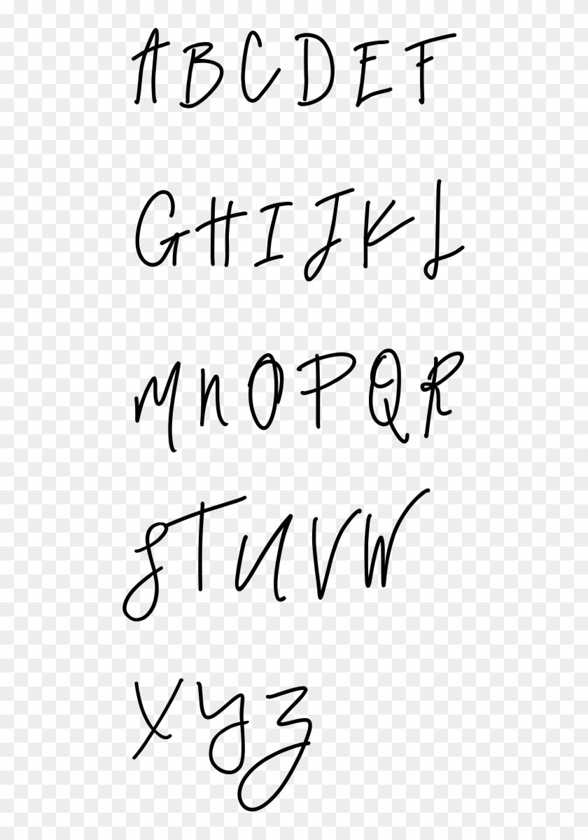 Needle & Thread Uppercase Bold Specimen - Handwriting Clipart #2256457