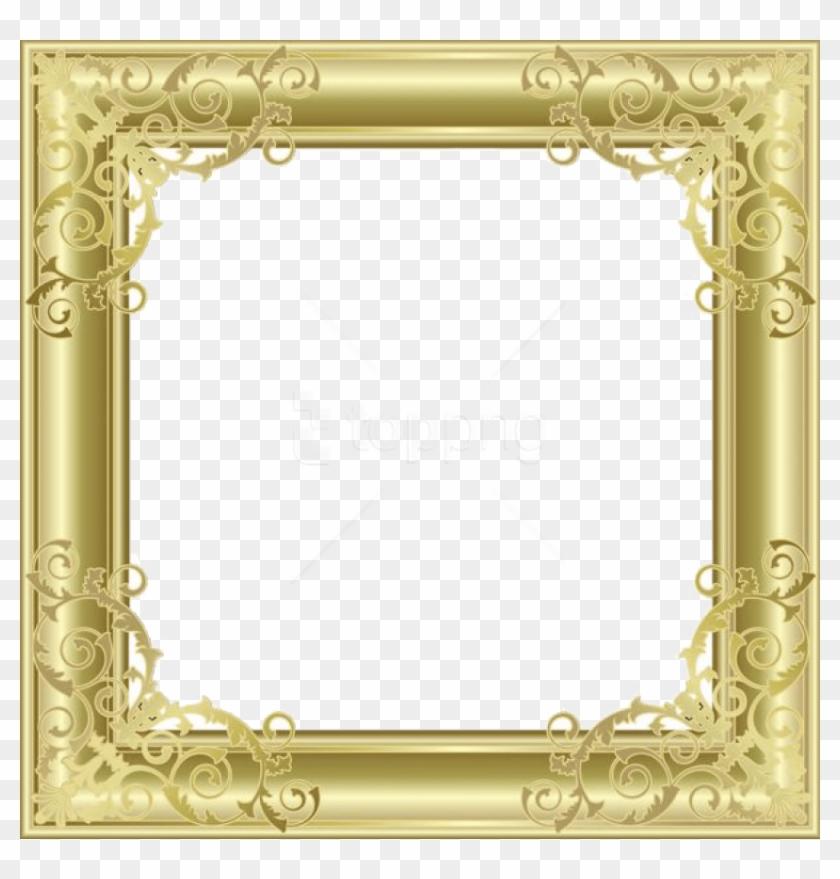 Free Png Gold Border Frame Png - Png Transparent Background Picture Frame Clipart #2261550