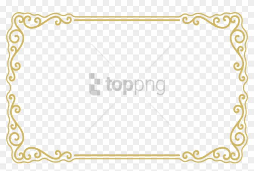 Free Png Gold Frame Border Png Png Image With Transparent - Transparent Transparent Background Border Png Clipart #2263652
