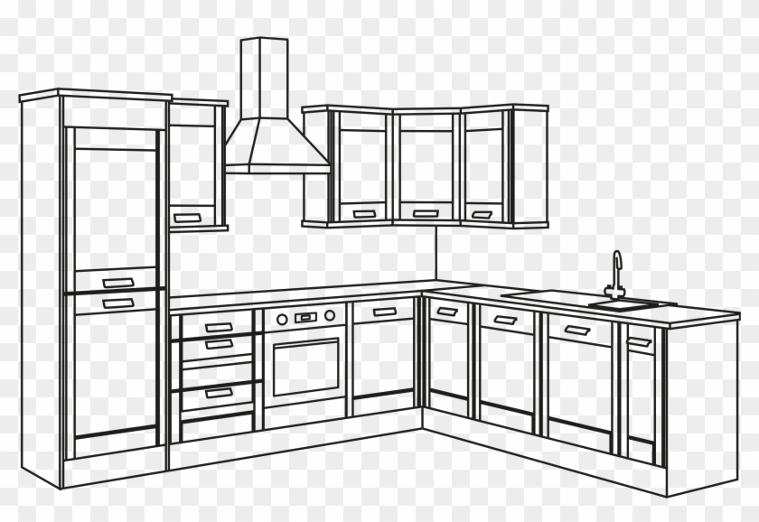 Dream Kitchen Drawing Easy Clipart 2266914 Pikpng