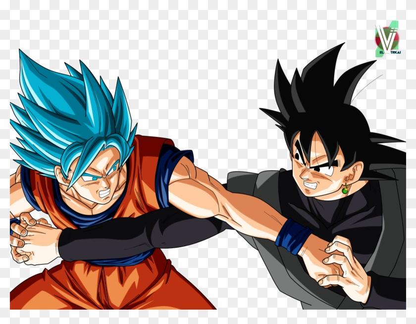 Goku Vs Black Goku, Z Warriors, Dragon Ball Gt, Son - Goku Y Goku Black Clipart #2267077