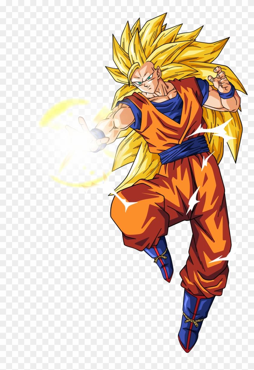 Goku Saiyan - Dragon Ball Z Characters Goku Super Saiyan 3 Clipart #2269130