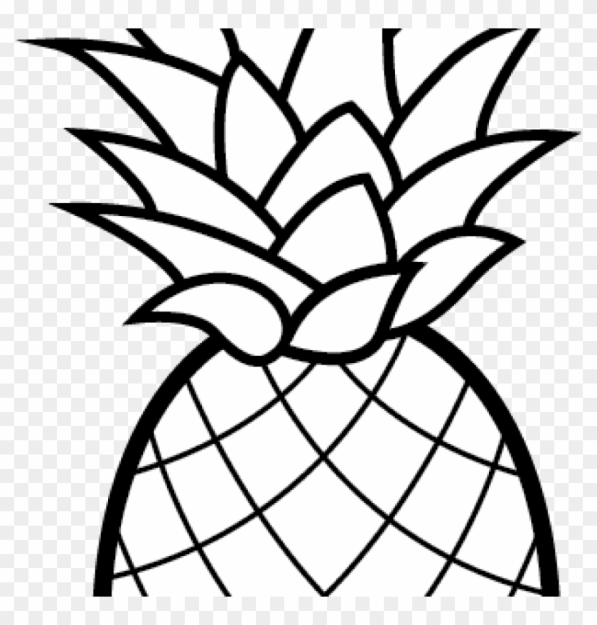 Pineapple Clipart Free Pineapple Clipart Free Clip - Printable Pineapple Coloring Pages - Png Download #2273729