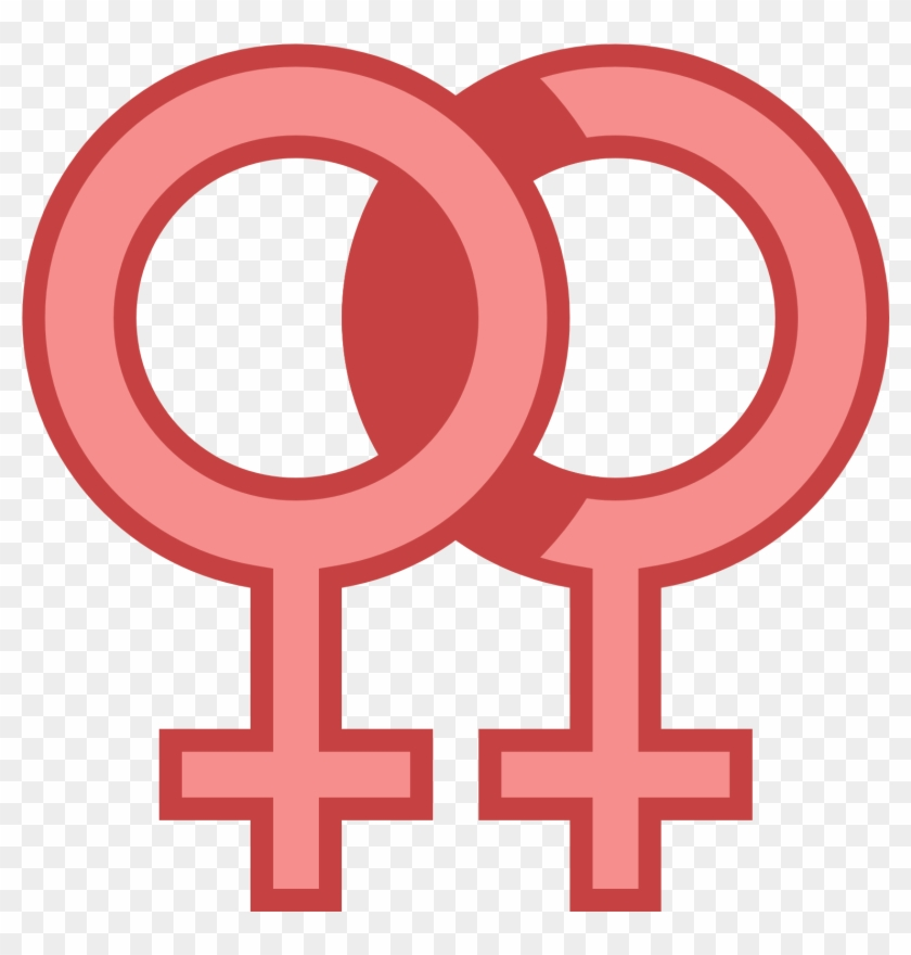 Female Double Icon - Transparent Background Woman Symbol Png Clipart #2276766