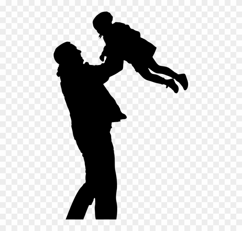 Child Daughter Father Female Girl Human Male Man - Dad And Daughter Silhouette Clipart #2277913