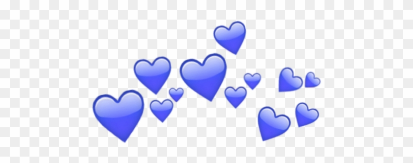 #blue #hearts #heart #crowns #crown #heartcrown - Heart Clipart #2279000