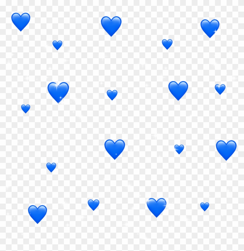 Blue Hearts 💙 - Transparent Blue Aesthetic Stickers Clipart #2279220