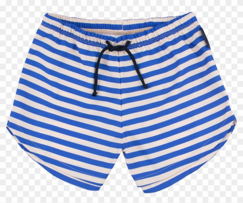 Tiny Cottons Stripes Swim Trunks T Shirt Clipart 2285619 Pikpng