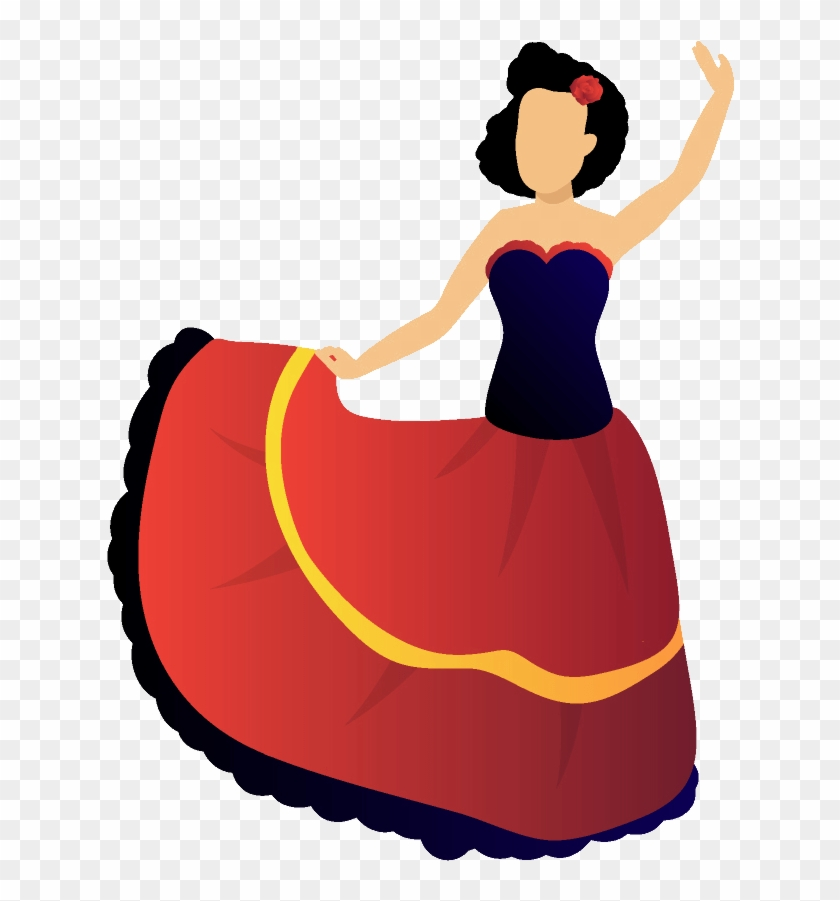 Spanish Level Spain Flamenco Background Spanish Cartoon No Background Clipart 2285754 Pikpng