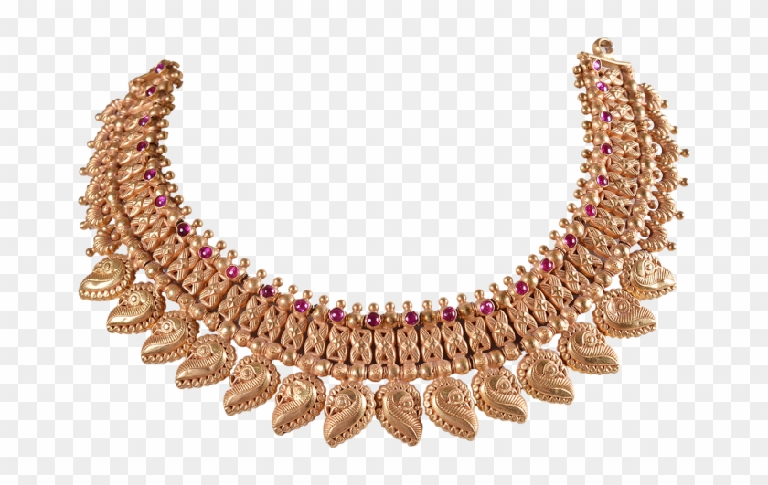 Chettinad Antique Gold Necklace Designs 1812 09 Necklace Clipart 2294086 Pikpng