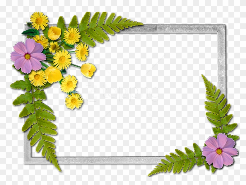 Free Png Flowers Frame Background Best Stock Photos - Flowers Frame Clipart #2294108