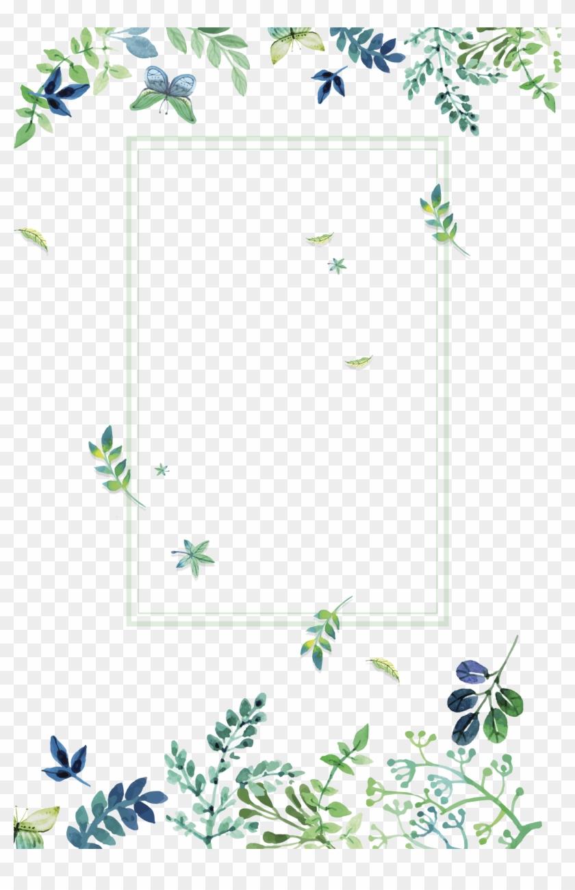Flores Wallpaper, Iphone Wallpaper, Wallpaper Backgrounds, - Green Watercolor Floral Png Clipart #2294383