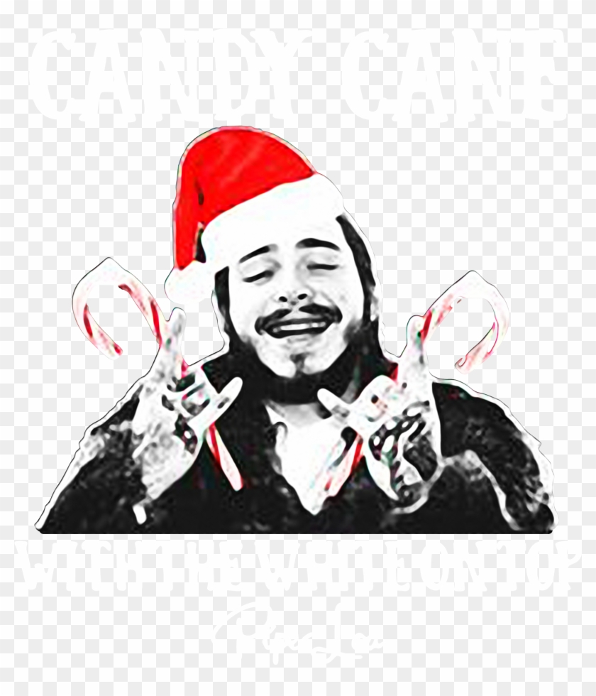 Post Malone Clip Art: Post Malone Candy Cane With The White On Top Christmas