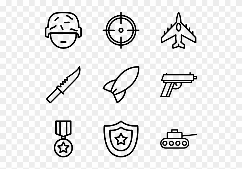 Army Minimal Icon Png Clipart 232188 Pikpng