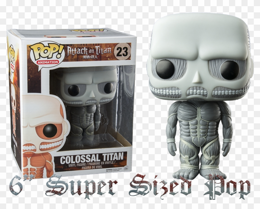 Attack On Titan Black White Colossal Titan Super Attack On Titan Colossal Titan Pop Vinyl Clipart 233948 Pikpng