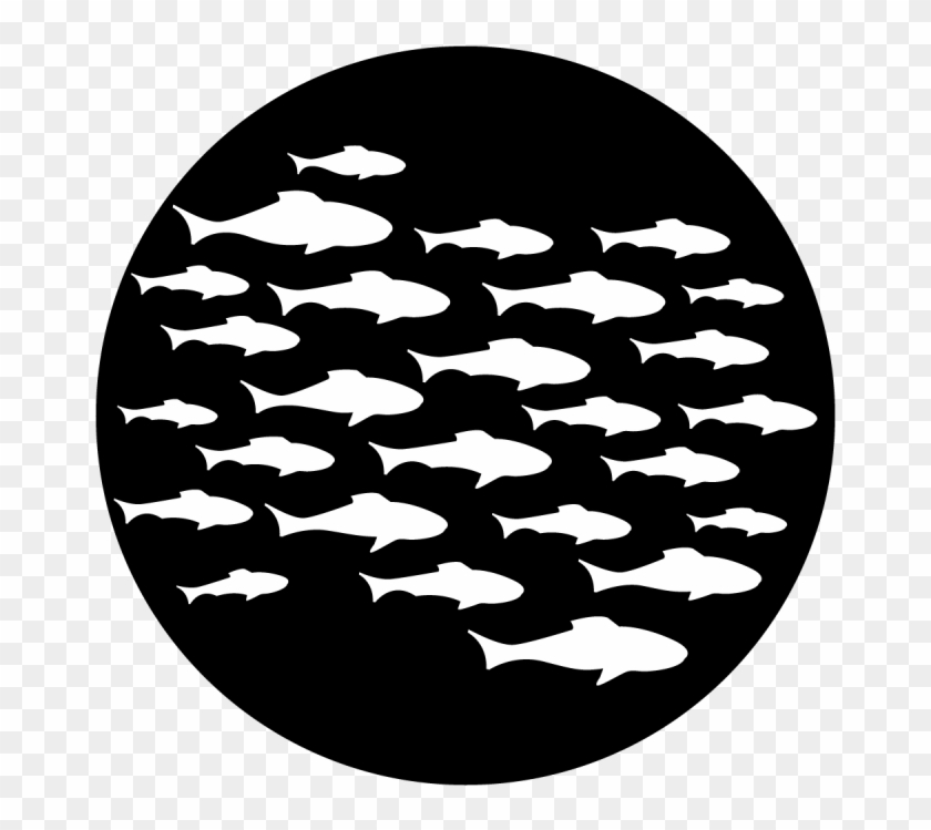 Sea School Of Fish - School Of Fish Silhouette Clipart@pikpng.com