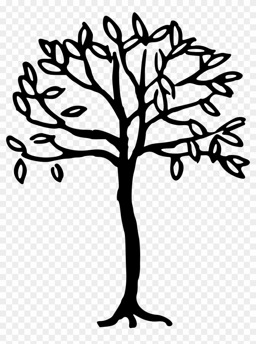 Png Black And White Stock Line Tree At Getdrawings - Big Tree Drawing Simple Clipart #234653