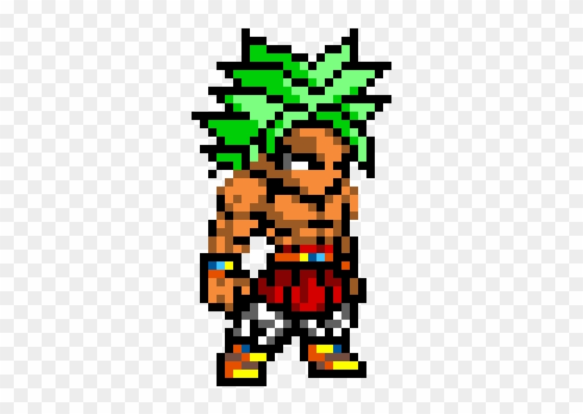 Legendary Super Saiyan Broly Pixel Art Dragon Ball Ssj