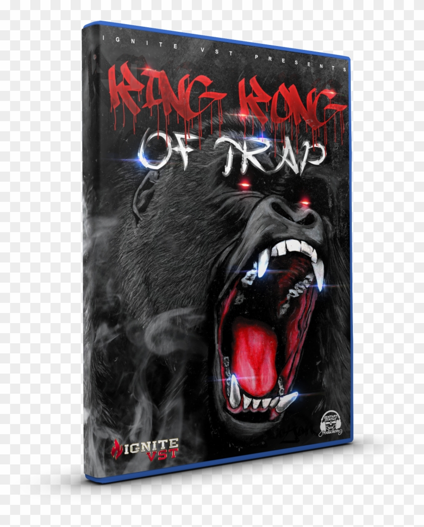 King Kong Of Trap - Angry Gorilla Face Drawing Clipart@pikpng.com