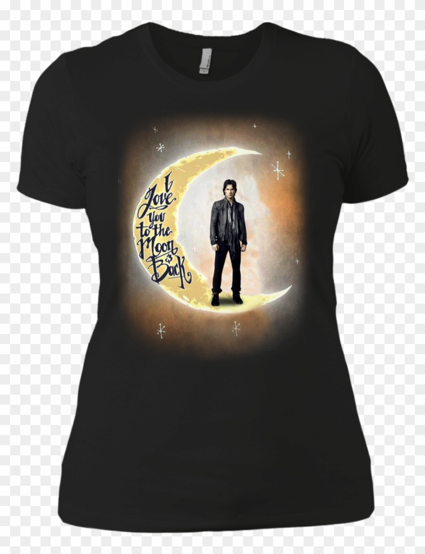 Ian Somerhalder Shirts I Love You To The Moon And Back - Silhouette Clipart #2300069