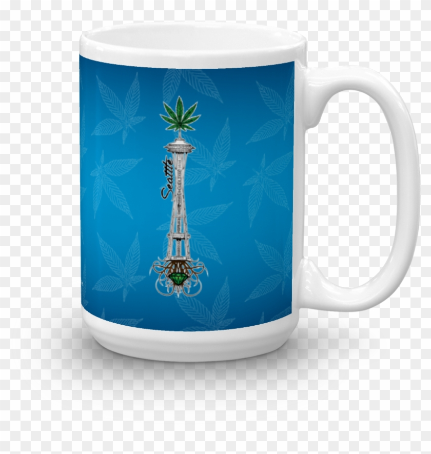 Rooted Space Needle - Coffee Cup Clipart #2305474