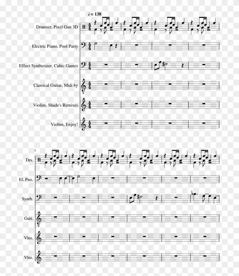 Pixel Gun 3d Black Butler Alto Saxophone Sheet Music Clipart 2313159 Pikpng