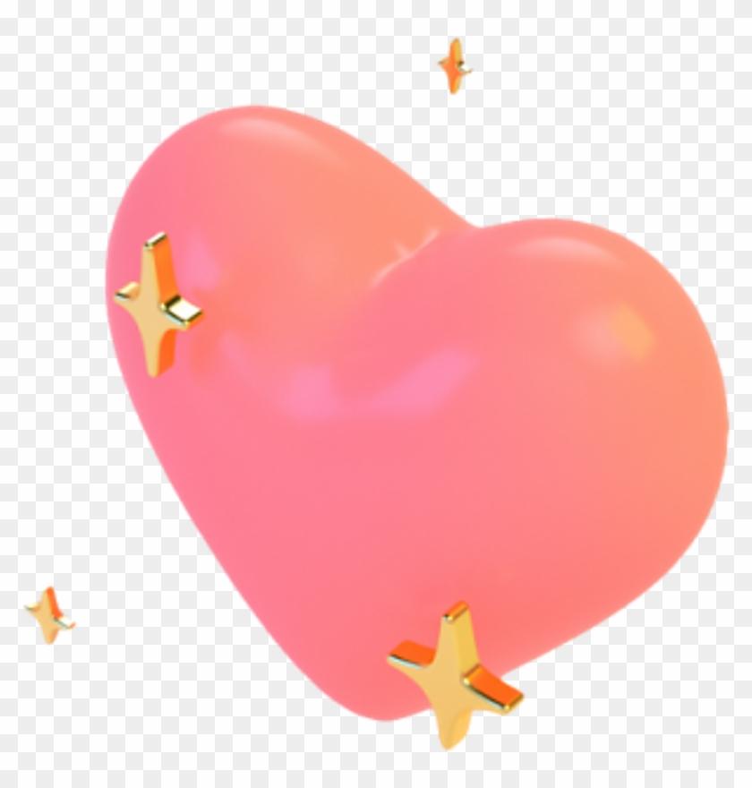 Tumblr Heart Corazon Star Estrella Emoji Whatsapp Emoti - Aesthetic Hearts Png Clipart #2319536