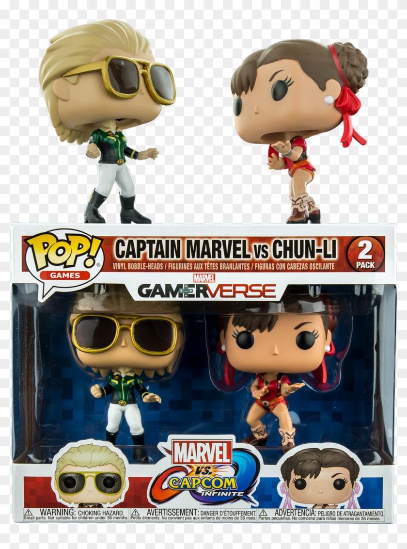 Marvel Vs - Capcom - Infinite - Captain Marvel Vs Chun - Captain Marvel Chun Li Funko Clipart #2319722