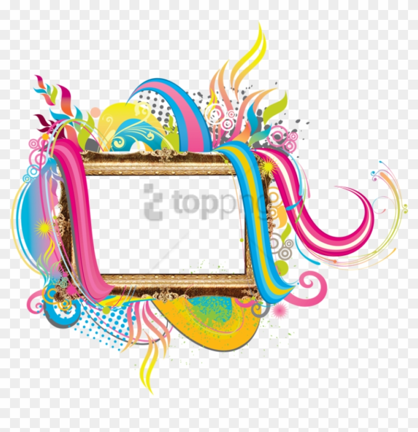 Free Png Colorful Frames And Borders Png Png Image - Colourful Photo Frames Png Clipart #2330351