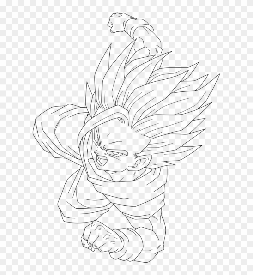 Bardock Coloring Pages Bell Rehwoldtcom Printable Color Dbz Ssj2 Gohan Drawing Clipart 2330824 Pikpng