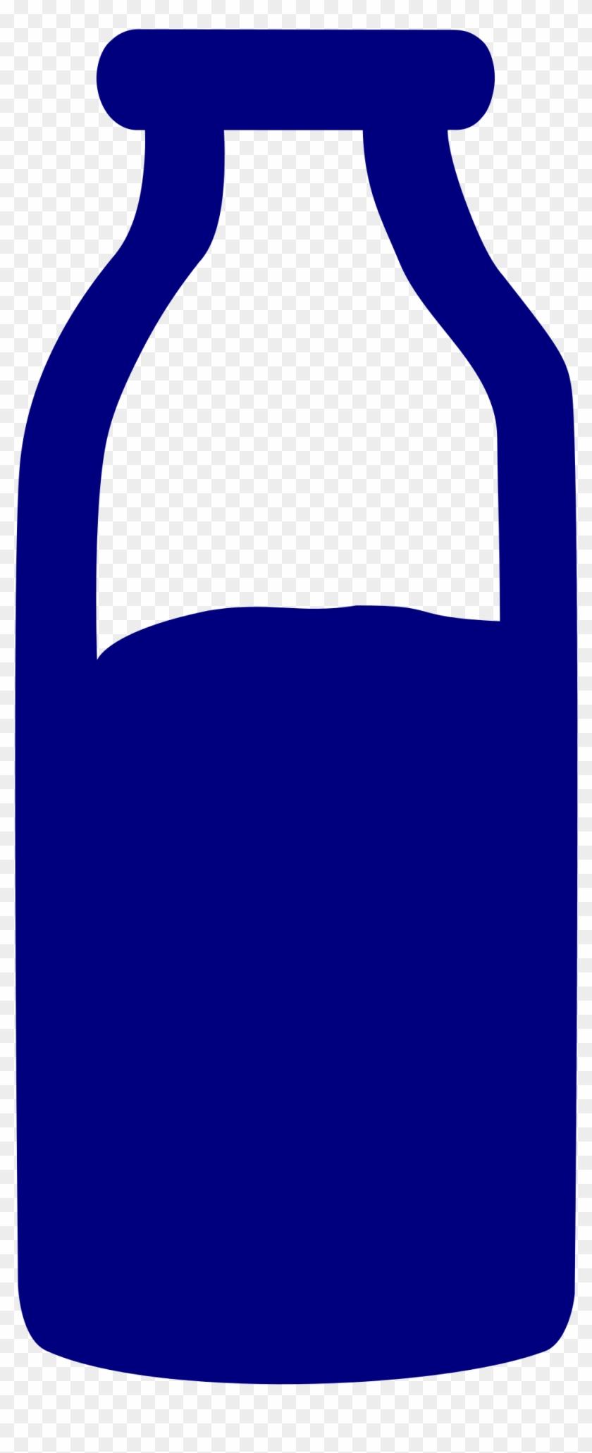Glass Milk Bottle Clipart - Botella De Leche Vector Png Transparent Png #2333994