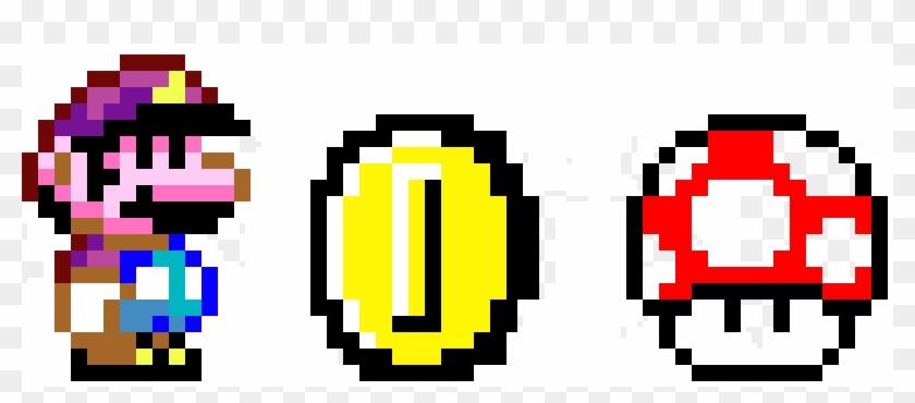 Mario Coin And Mushie Super Mario Mushroom Logo Clipart