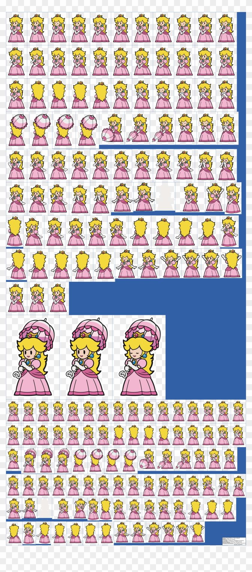 Princess Peach Clipart Wii U Paper Mario Color Splash