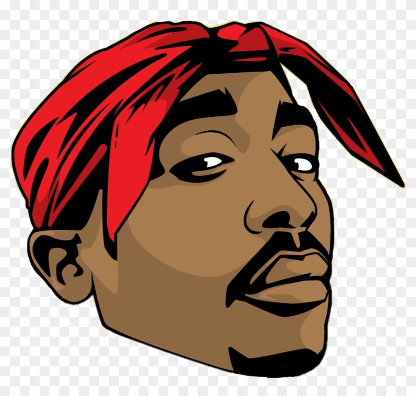 Tupac Sticker Tupac Art Clipart 2343754 Pikpng