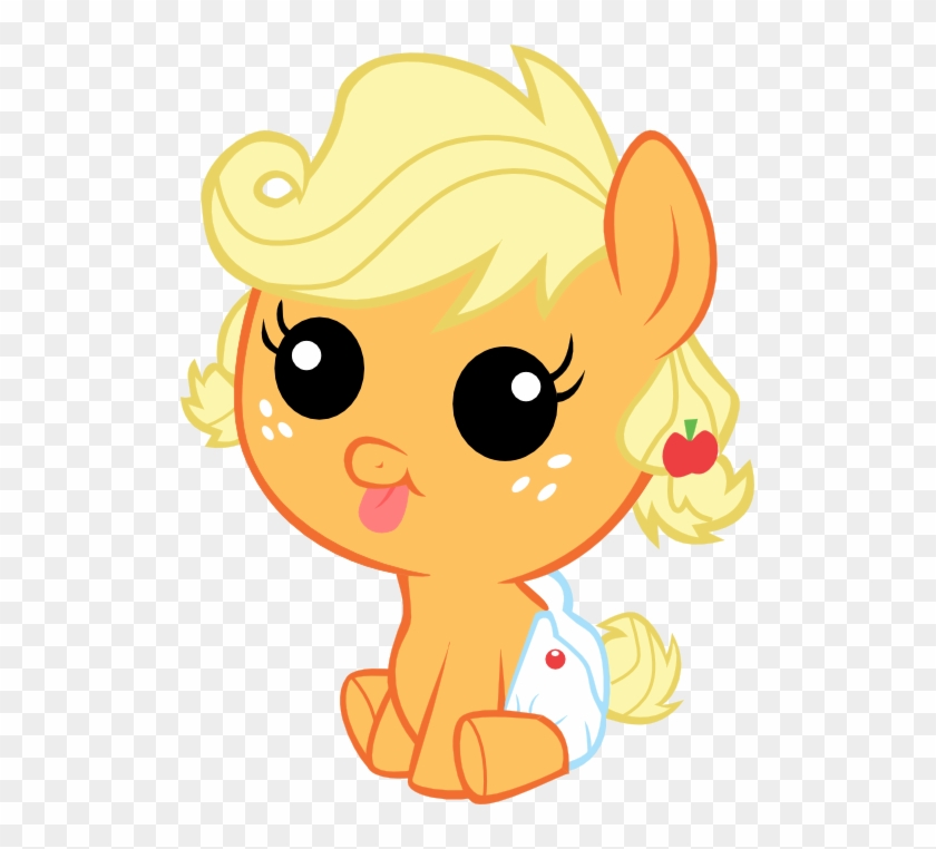 Applejack, Baby, Babyjack, Baby Pony, Derp, Diaper, - My Little Pony Cute  Baby Clipart (#2349952) - PikPng