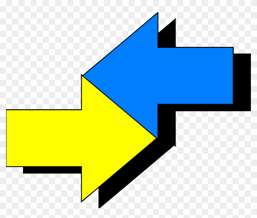 Spelling Right Transprent Png - Two Arrows In Opposite Directions Clipart #2353774