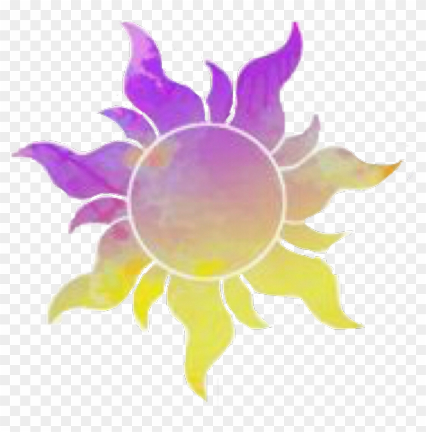 Stickers Sun Disney Tangled Rapunzel Flynnrider Tangled Sun Clipart 2354323 Pikpng