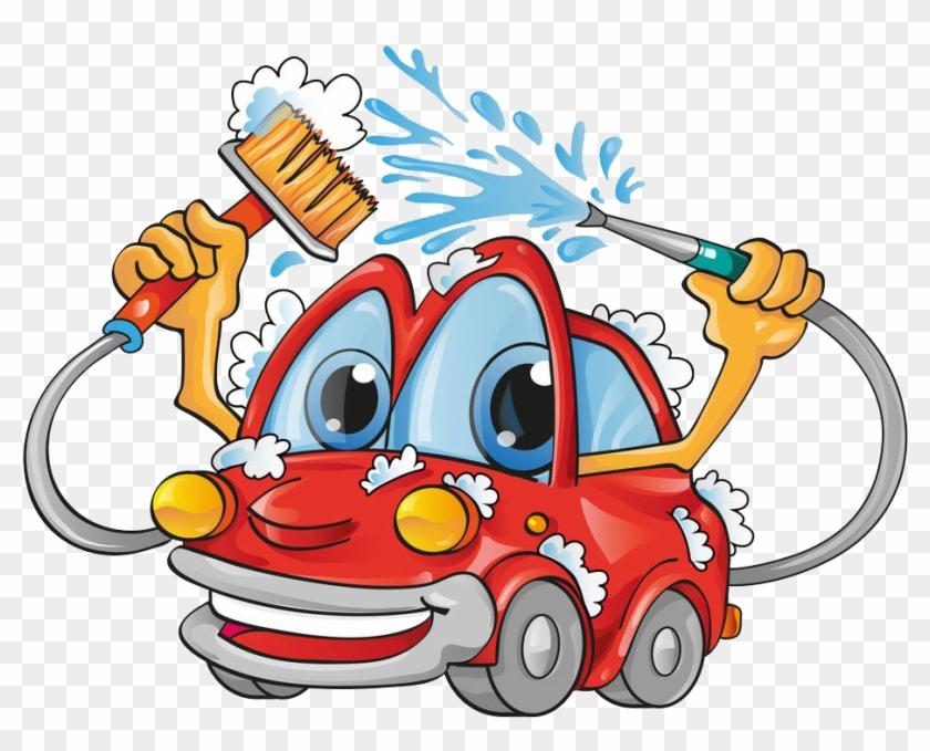 Car Wash Royalty-free Clip Art - Cartoon Car Wash - Png Download #2354717