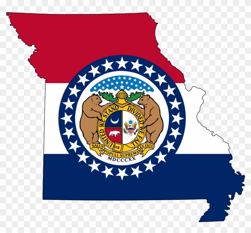 2000 X 1759 5 0 - Missouri State Flag Map Clipart #2357898