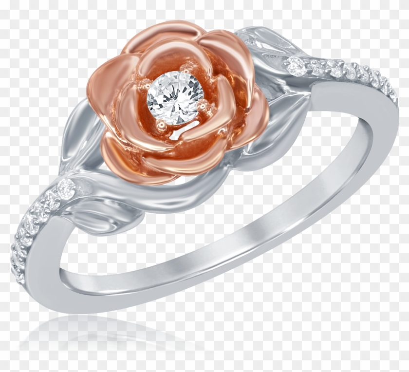 Disney Enchanted Belle 20ctw Diamond Rose Ring Ben - Disney Beauty And The Beast Ring Clipart #2365792