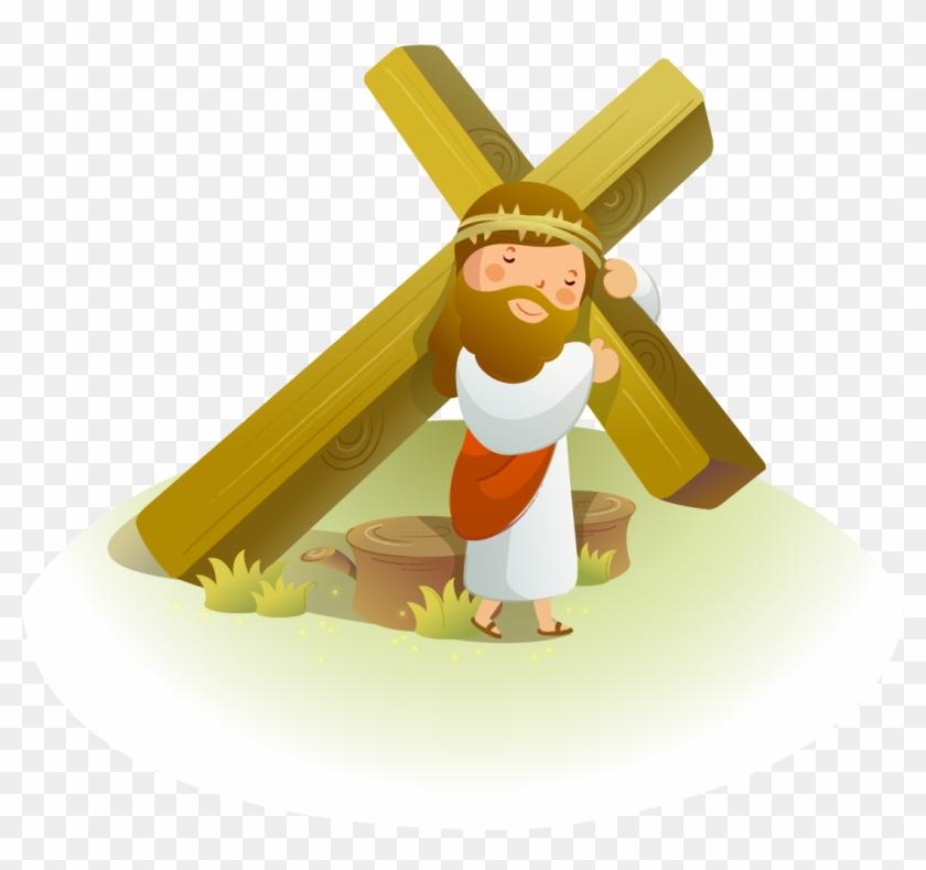 Crown Of Thorns Christianity Clip Art - Jesus En La Cruz Animado - Png Download #2374865