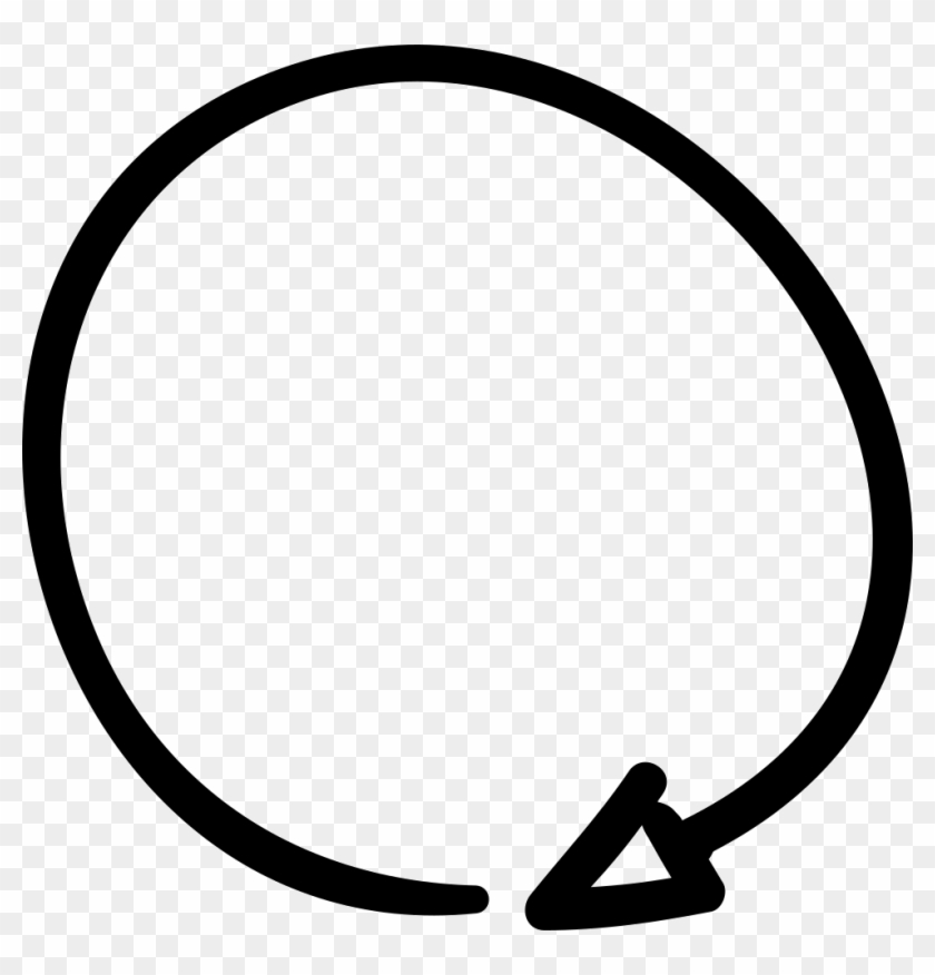 Clockwise Drawn Arrow Comments - Hand Drawn Circle Arrow Clipart #2381757