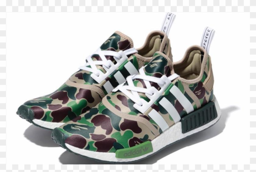 reservorio Dependencia guapo  Adidas Nmd R1 Bape - Zapatillas Adidas Camufladas Clipart (#2386546) -  PikPng