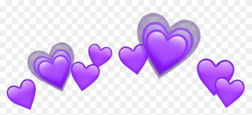 Purple Heart Purpleheart Heartpurple Crown Emojis Emoji - Red Hearts Emoji Png Clipart #2389753