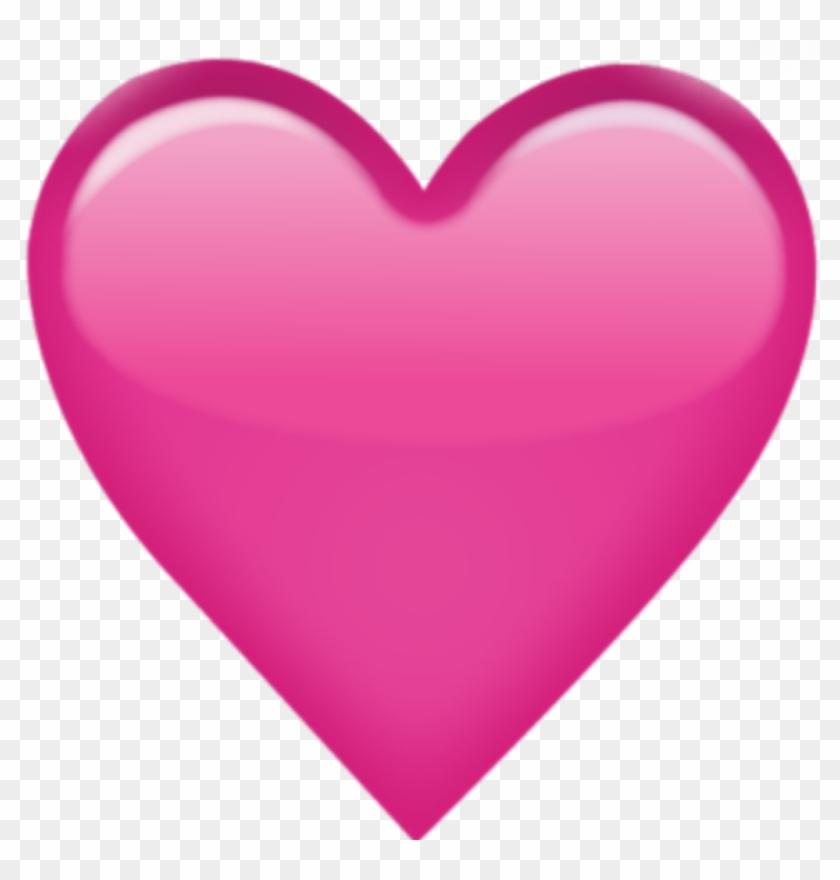 Pink Love Heart Emoji , Png Download - Pink Heart Emoji Png Clipart #2389759